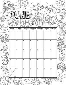 printable coloring calendar     woo jr