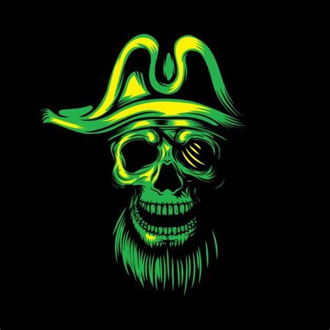 imagenes de calaveras verdes fondo de calavera pirata verde descargar vectores gratis