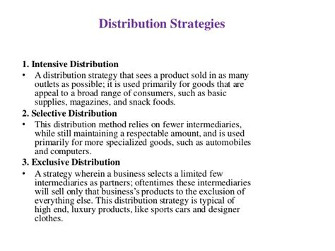distribution strategy template distribution strategies in marketing images