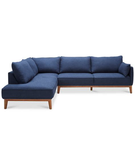 Jollene 2 Pc Sectional Only At Macy S Furniture Macy S Sectional Sofas Macys