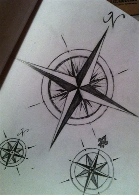 compass tattoo sketch tree compass tattoo on back real photo pictures