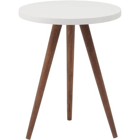white side table buy three leg wooden and white side table from fusion living