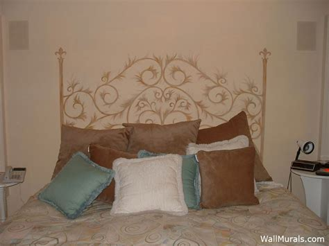 Painted Headboard On Wall Ideas by Master Bedroom Wall Murals By Colette Wall Murals In