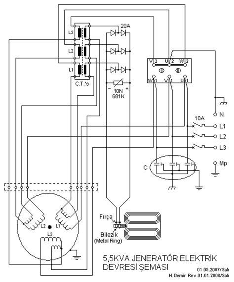 electrical circuit diagram maker electro circuit schema datasheet 5 5kva generator