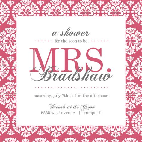 template for bridal shower invitation bridal shower brunch invitations template best template
