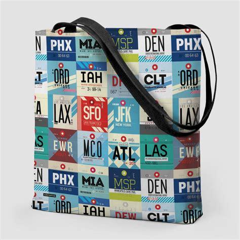 Tote Bag Usa tote bag usa airports codes airportag