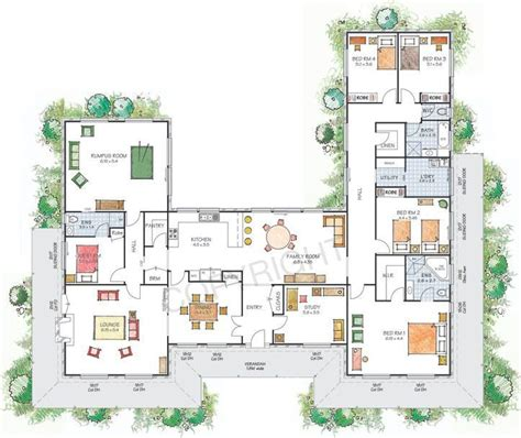 U Shaped Floor Plans by U Shaped House With Courtyard House Plans U Shaped With