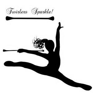 ursula s digital mixed media baton twirler leaping