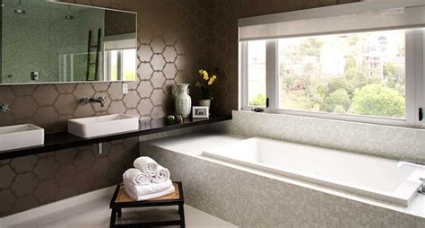 White bathroom with brown vanity design decor photos pictures