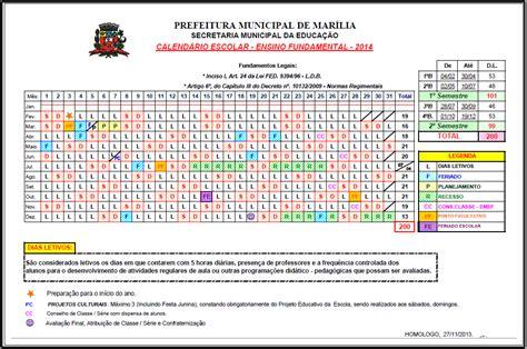 distrito escolar de tempe no 3 calendario escolar 2016 2017 secretaria municipal da educa 231 227 o de mar 237 lia sp janeiro 2014