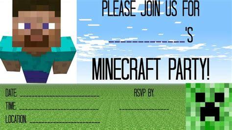 free printable minecraft invitation template free minecraft party invitation template invitations online