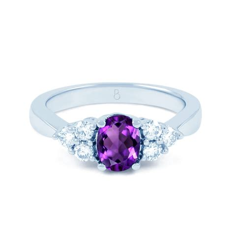 Engagement Ring by 18ct White Gold Amethyst Vintage Engagement Ring