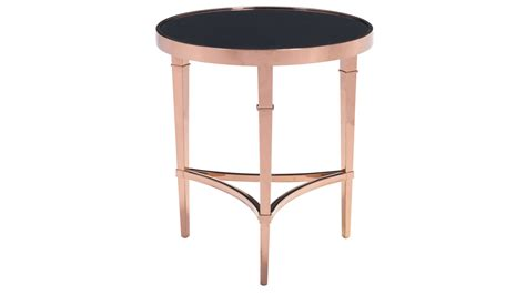 gold end table modern pascale glass side table gold black zuri