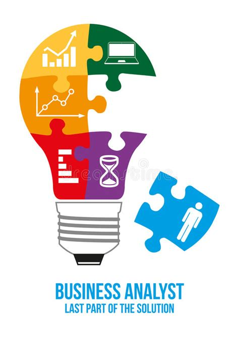Business Analyst Part Of Mba Explain by Business Analyst Design Concept Stock Illustration