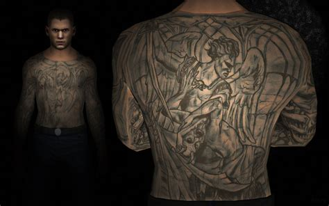 michael scofield tattoo design prison wallpaper wallpapersafari