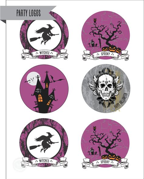 free printable halloween party decorations free halloween party printables from wcc designs catch