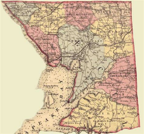 Cecil County Judiciary Search Cecil County Simon J Martenet Martenet S Atlas Of Maryland 1865 Huntingfield