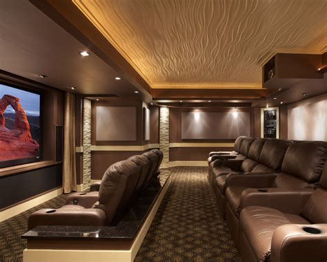 Home Theater Design Houzz Leesburg Theater Contemporary Home Theater Dc Metro