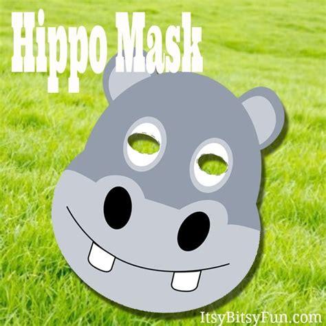 printable hippo mask printable hippo mask masking