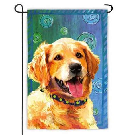 golden retriever garden flag golden retriever garden flag