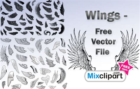 eps format from photoshop wing vector photoshop images