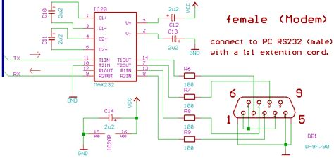 laser diode kaelux max232 capacitor values 28 images electroons uart serial communication avr tutorials max