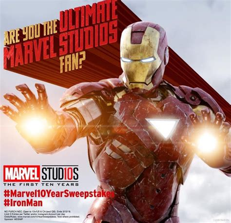 Anniversary Sweepstakes - marvel 10 year anniversary sweepstakes win a trip to the avengers infinity war premiere