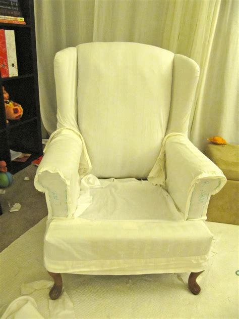 cat proof slipcovers my wing chair slipcover reveal