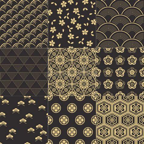 japanese pattern design vector seamless japanese pattern set stock vector illustration