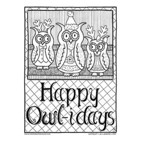 coloring pages bliss youtube happy owl idays christmas owls to color