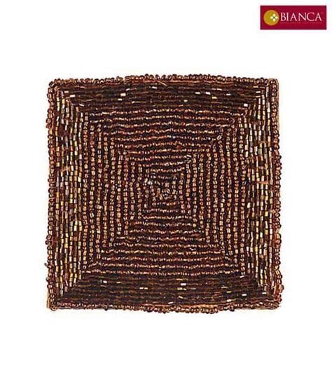 glass beaded coasters square brown glass beaded coaster set buy