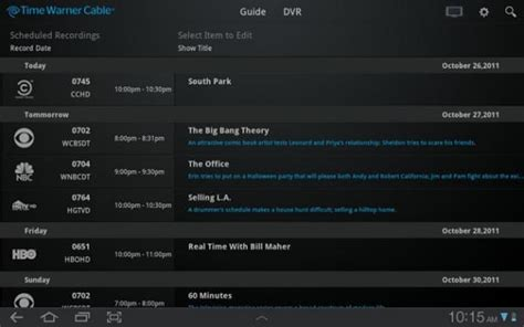 time warner cable customers access your dvr and channel
