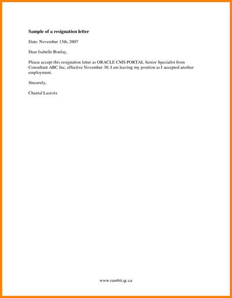 resignation letter format sle ideas thoughtful photo