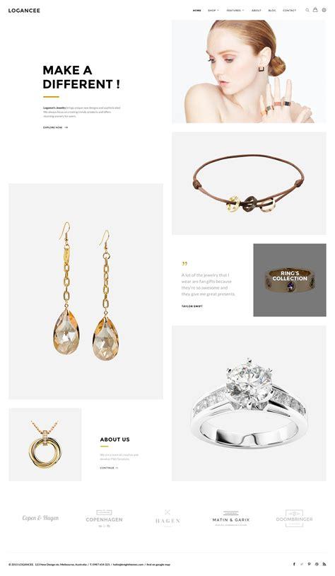 themeforest jewellery logancee mutilpurpose ecommerce psd template by logancee