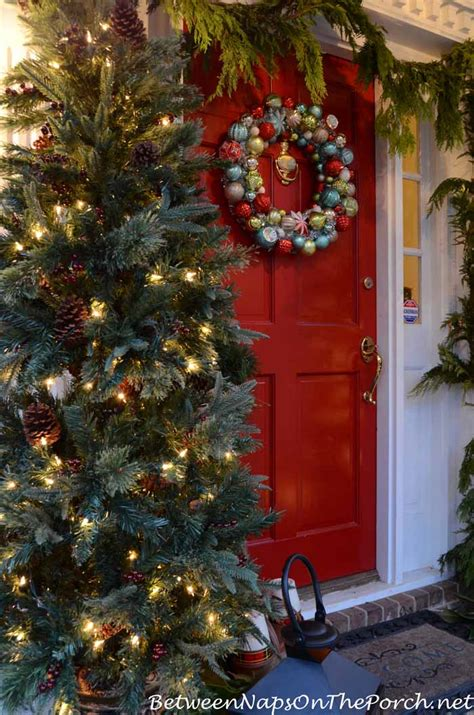 who makes martha stewart christmas trees porch decorating ideas