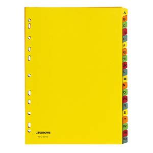 printable alphabetical dividers j burrows a4 a z tab dividers bright colours officeworks