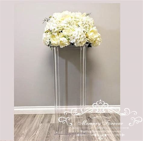 Acrylic Floor Vase Clear Flower Vase Table Centerpiece For