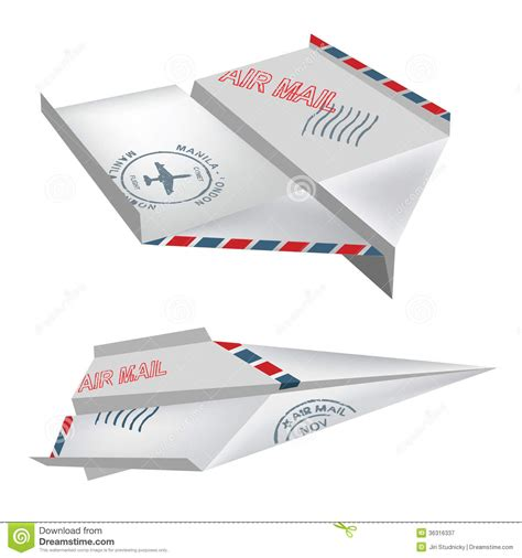 Air Origami - origami air mail airplanes fotografia royalty free obraz