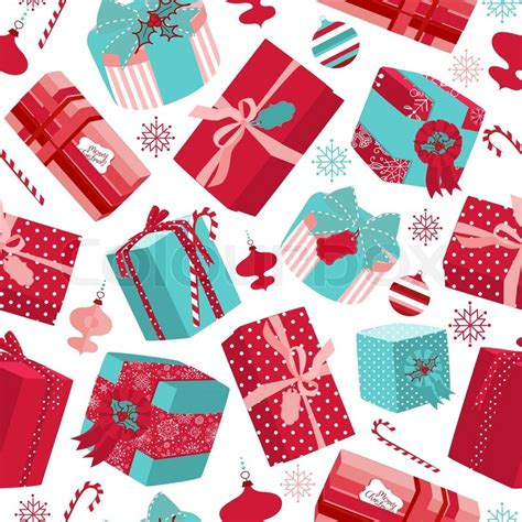 free pattern christmas gifts retro christmas gift boxes seamless pattern stock vector