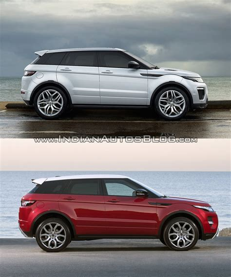 land rover range rover evoque 2016 2016 range rover evoque facelift vs 2015 evoque old vs new