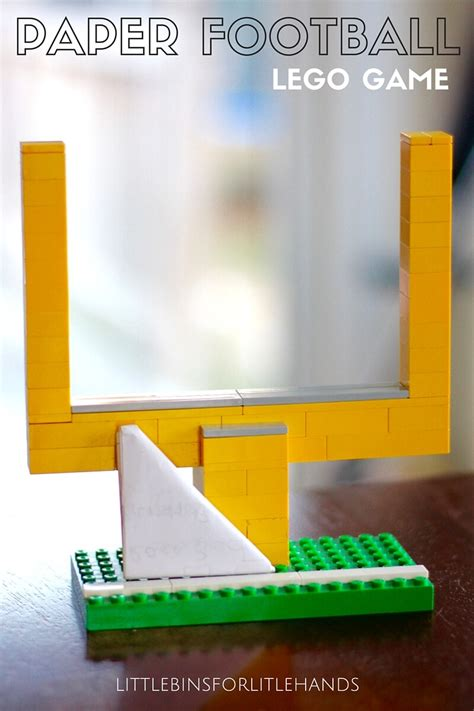How To Make A Paper Football Field Goal - paper football with lego goal posts screen free