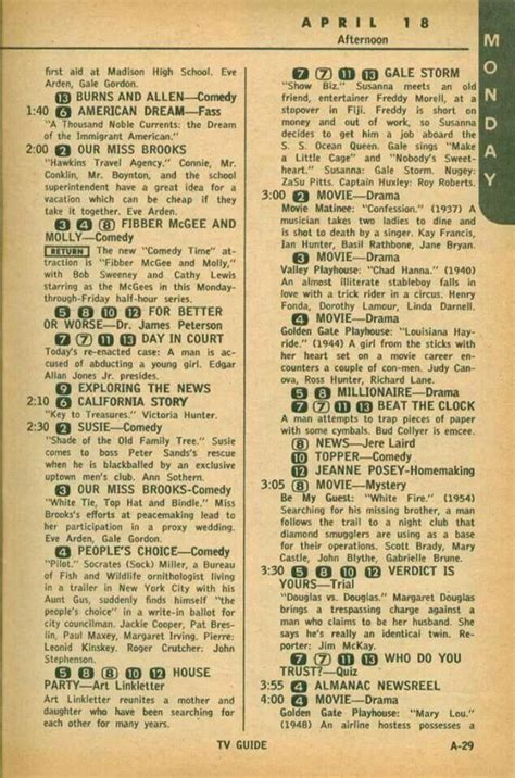 day tv guide