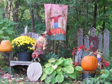 hometalk rustic fall garden shed hometalk fall backyard shed and autumn displays