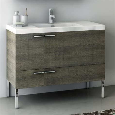 39 Inch Bathroom Vanity 39 Inch Vanity Cabinet With Fitted Sink Contemporary Bathroom Vanities And Sink Consoles