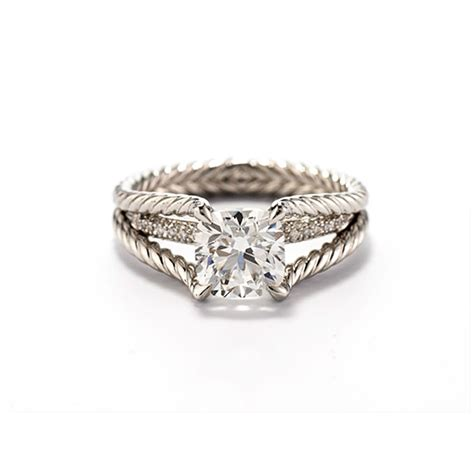 David Yurman   Style WR1013 Cable Engagement Ring with