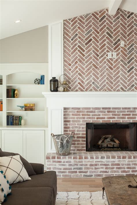 picking pattern for house that built me fireplace with herringbone pattern brick work and built in