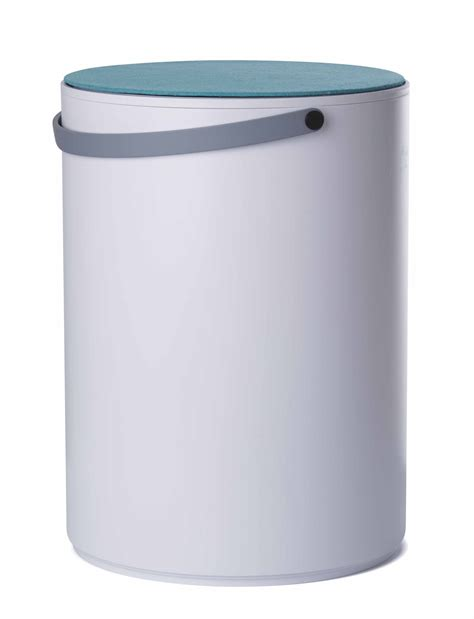 stool storage stool plastic white grey handle by