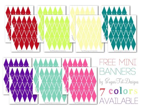 Printable Mini Banner | sugartotdesigns mini glitter banner for christmas free
