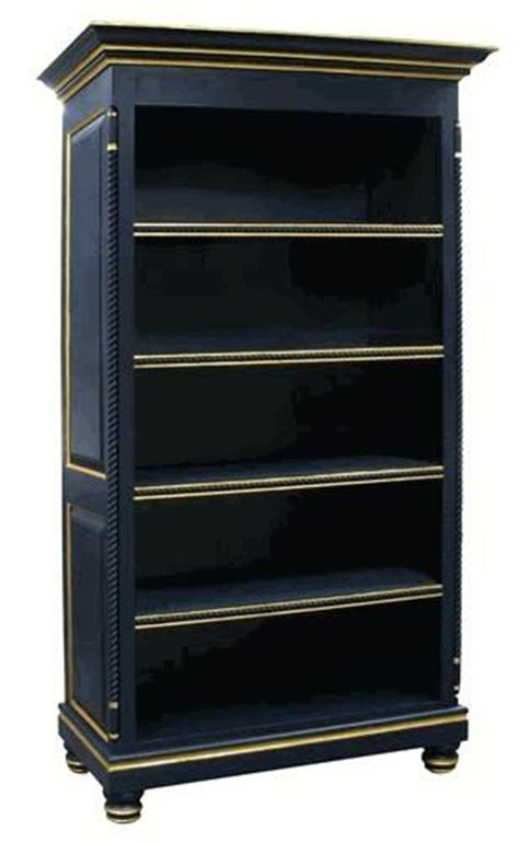 i this navy blue bookcase with gold trim the diy