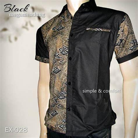 Kemeja Hem Batik Pria Hg 028 jual batik pria baju batik kombinasi seragam batik